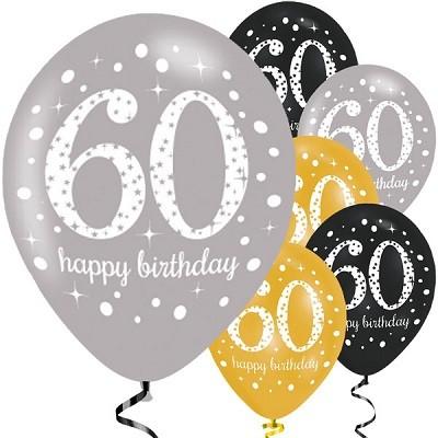 ballonger 60 år BALLONGER 60 ÅR   GULL/SØLV/SVART | FESTSTEMNING.NO ballonger 60 år