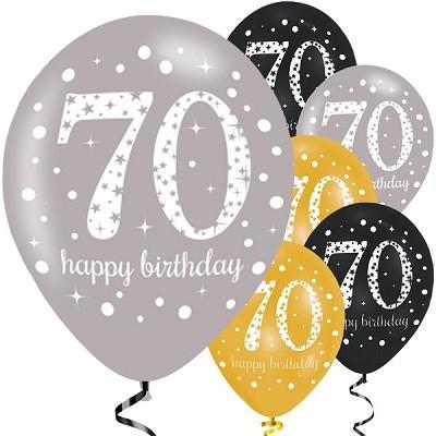 70 års dag BALLONGER 70 ÅR   GULL/SØLV/SVART | FESTSTEMNING.NO 70 års dag